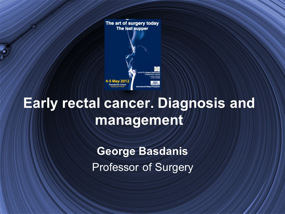 Early rectal cancer. Diagnosis and management